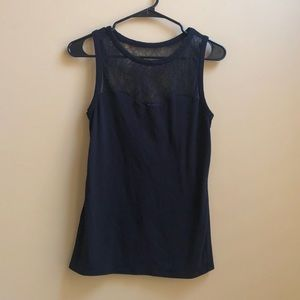 Express Black Tank with Lace Details